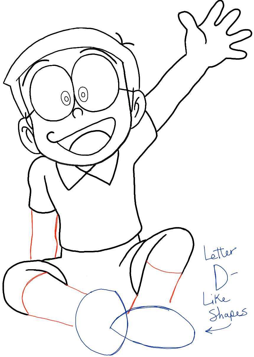 step08-how-to-draw-Nobita-Nobi-from-doraemon
