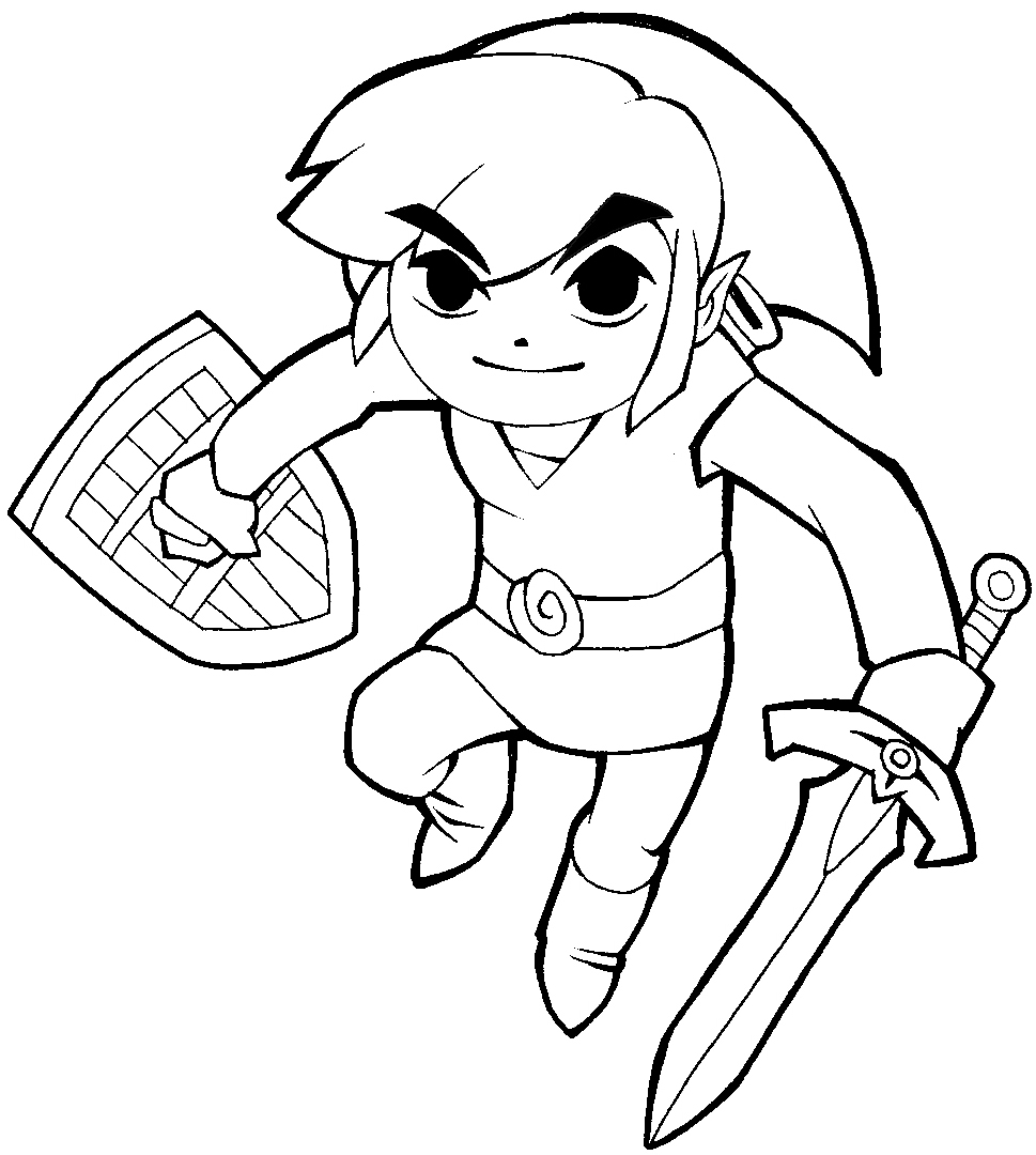 how to draw link from legend of zelda in cartoonized style