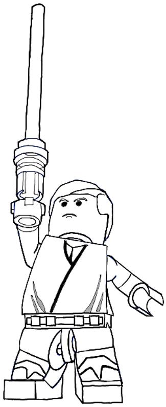 How to Draw Lego Luke Skywalker in Easy Steps Drawing ...